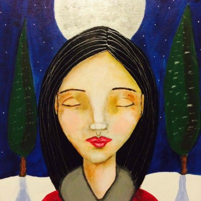 Full Snow Moon Goddess Print