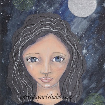 April Full Pink Moon Goddess